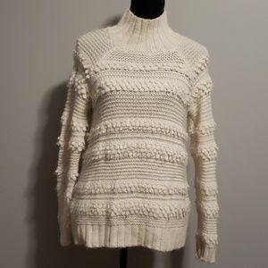 Lou&Grey Ivory Turtleneck Sweater size XSmall